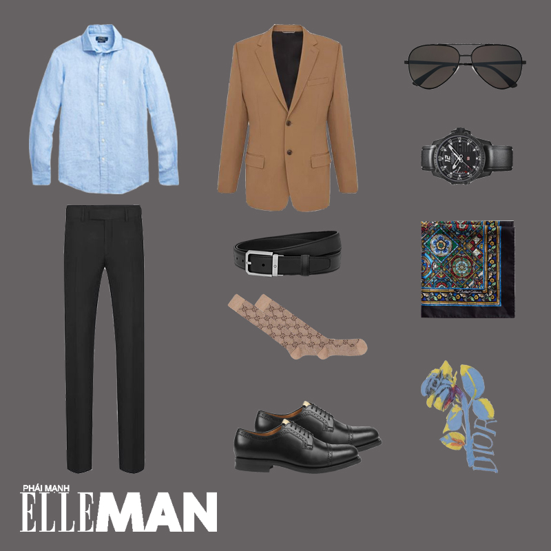 outfit 5 - phối đồ với áo sơ mi chambray