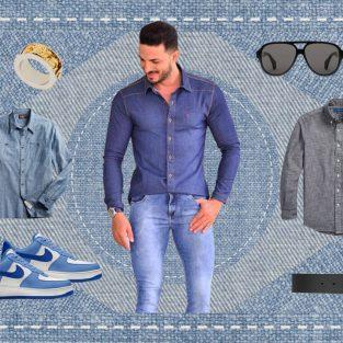 ELLE Man Style Calendar: Đổi mới tủ đồ Xuân với áo sơ mi chambray