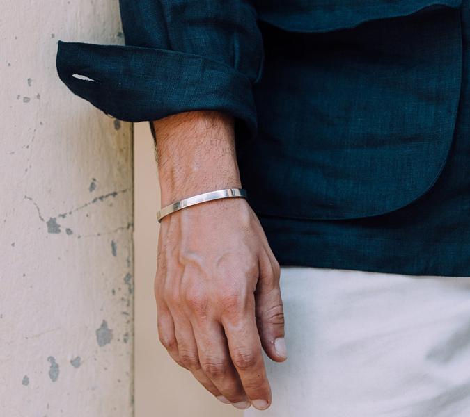 silver bracelet-vong tay nam-elleman-0120