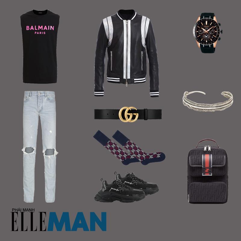outfit 2 - cách đeo vòng tay nam