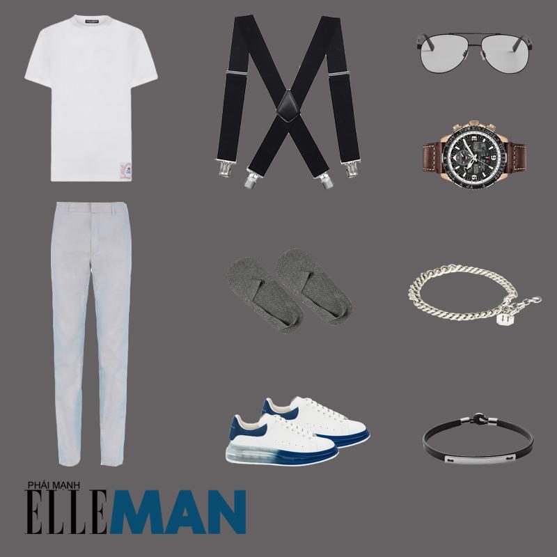 outfit 4 - cách đeo vòng tay nam