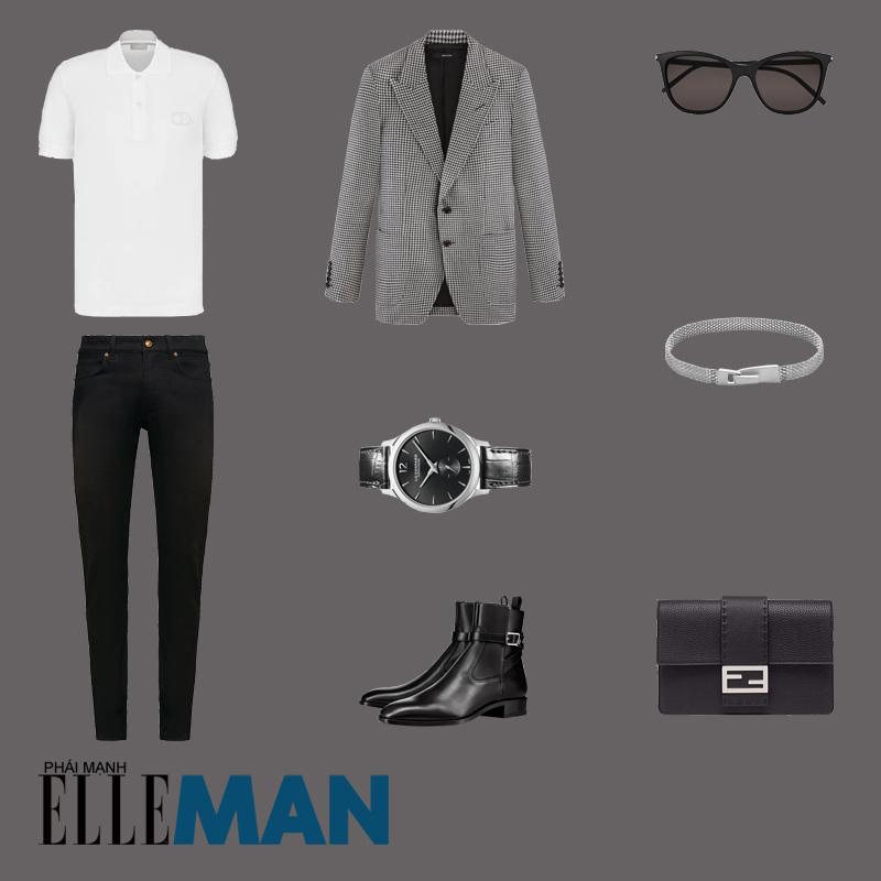 outfit 5 - cách đeo vòng tay nam