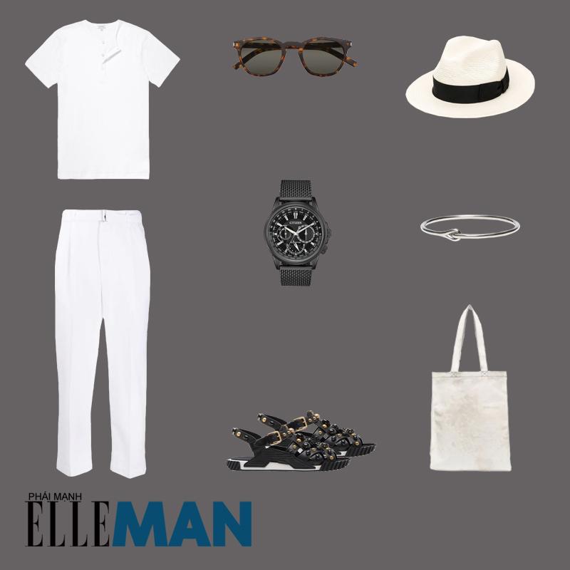 outfit 4 - phối đồ với áo thun henley