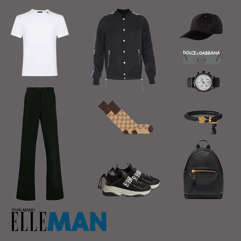 outfit 1 - phối đồ với quần ống rộng