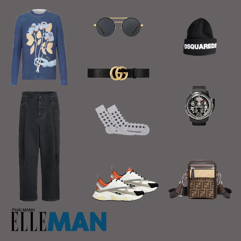 outfit 2 - phối đồ với quần ông rộng