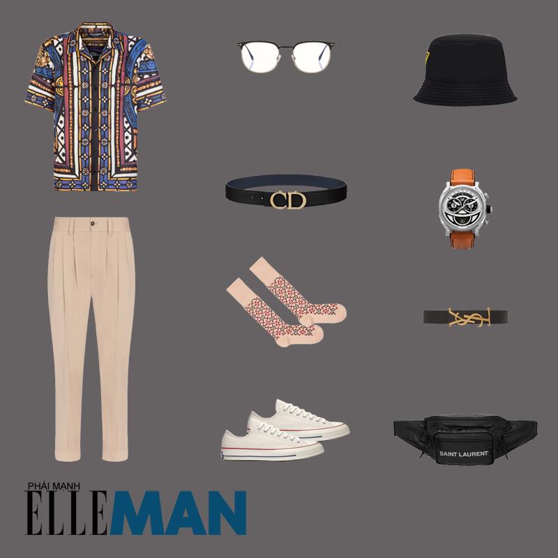 outfit 1 - phối đồ với túi crossbody