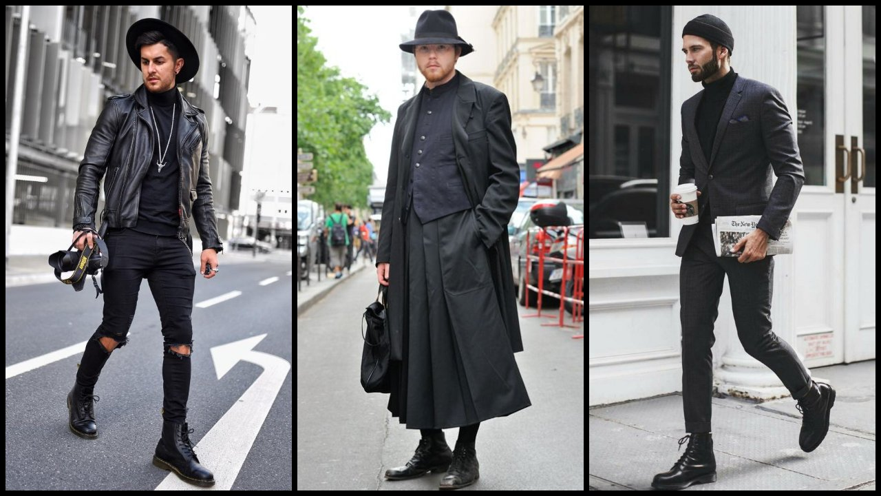 boymassageyoni cach phoi do all black street style elle man 1