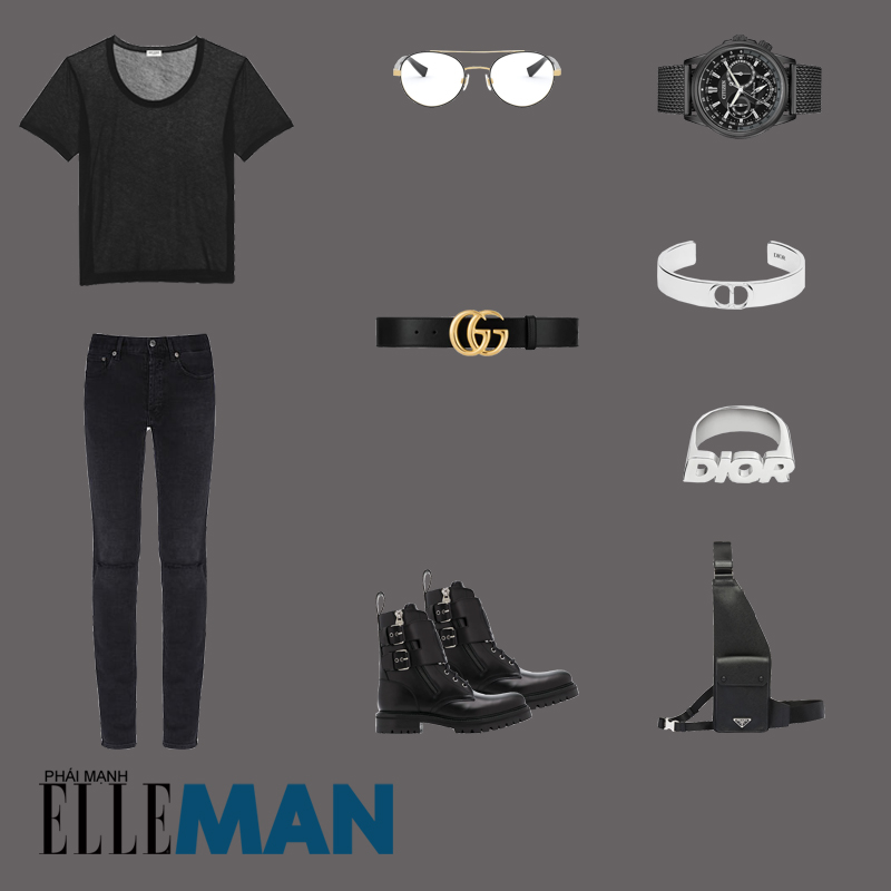 outfit 4 - phối đồ với túi crossbody