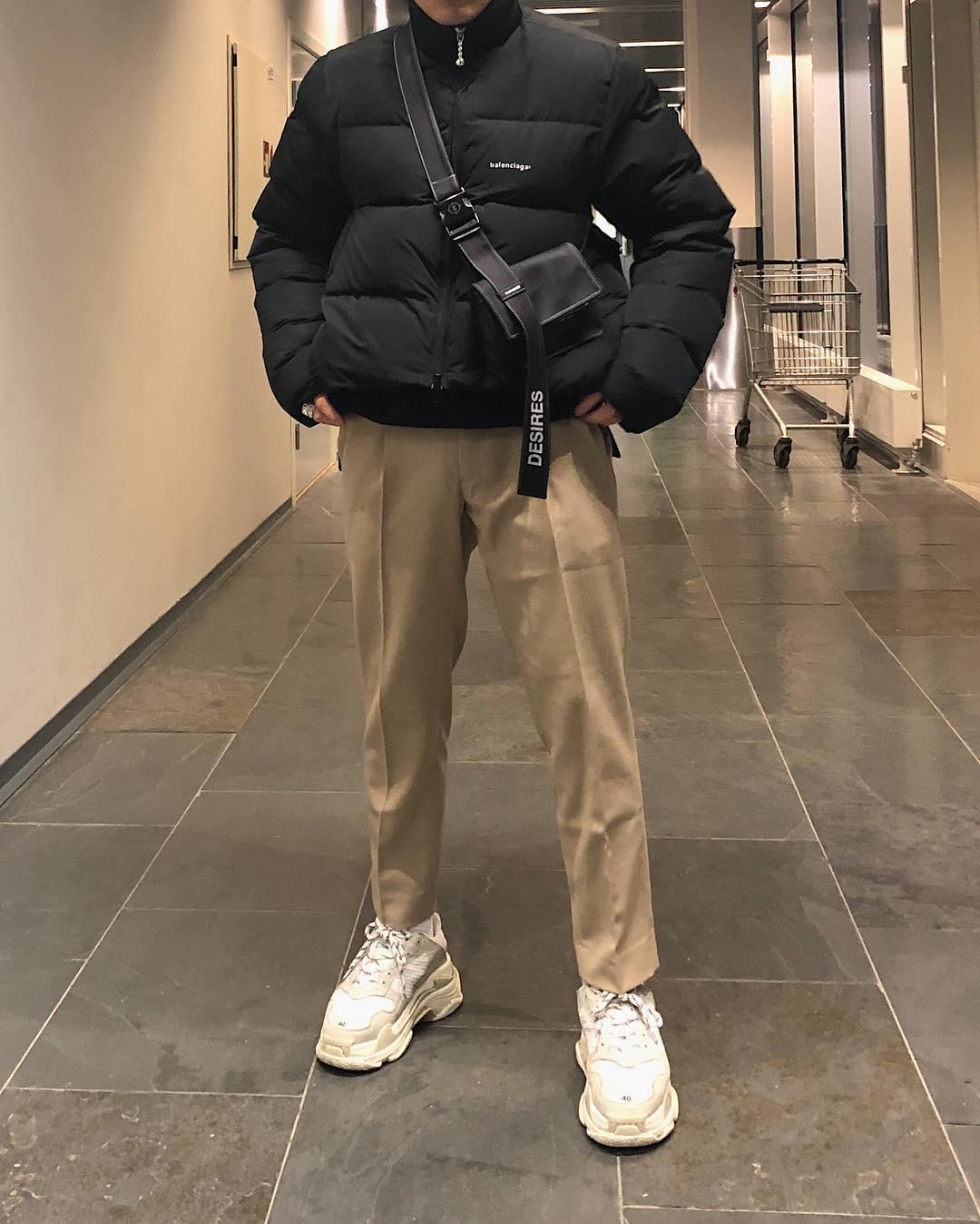mac layer voi giay chunky sneaker - elle man