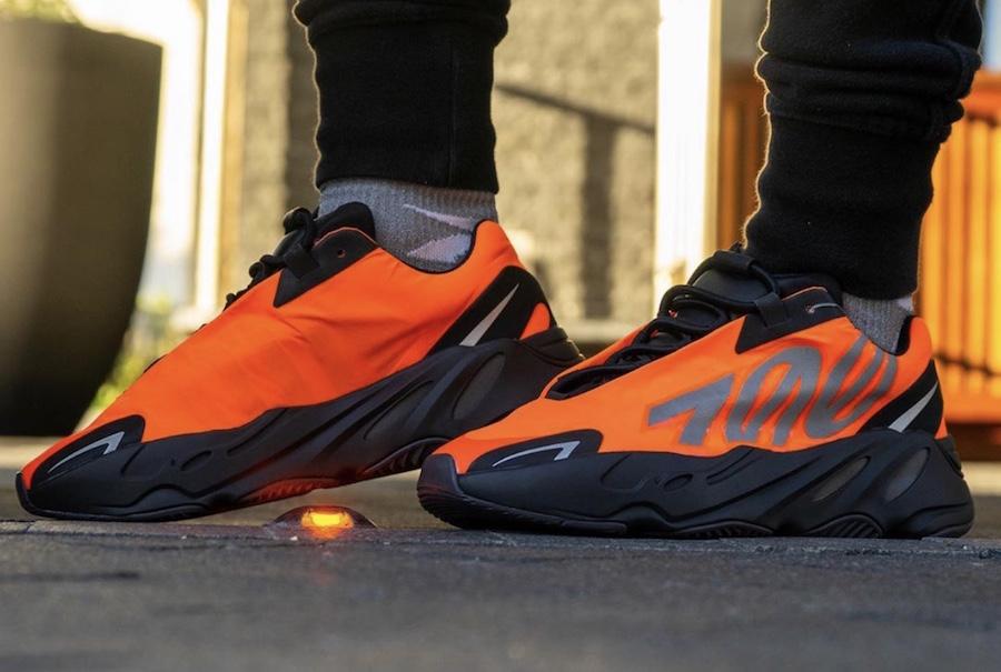 adidas yeezy boost 700 mnvn orange - elle man