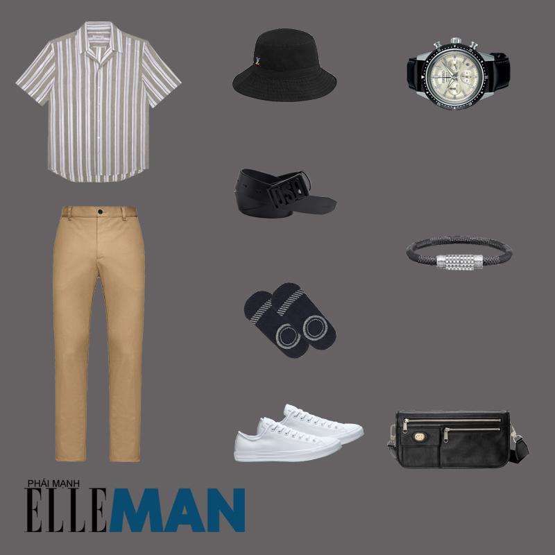 outfit 2 - phôi đồ sọc pinstripes