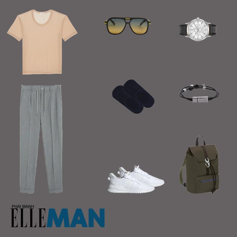 outfit 3 - phối đồ sọc pistripes