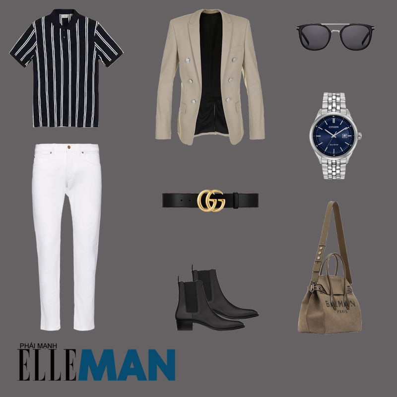 outfit 4 - phối đồ sọc pinstripes