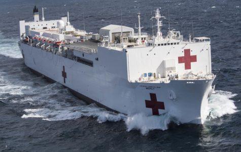 """Bên trong """"siêu tàu bệnh viện"""" Mercy cứu trợ nạn nhân Covid-19 của Hải Quân Mĩ"""