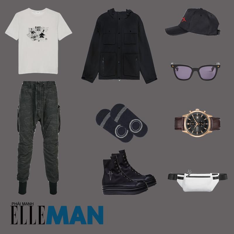 outfit 4 - phối đồ với áo thun in