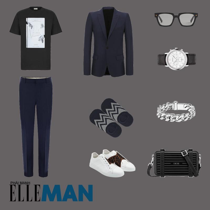 outfit 5 - phối đồ với áo thun in