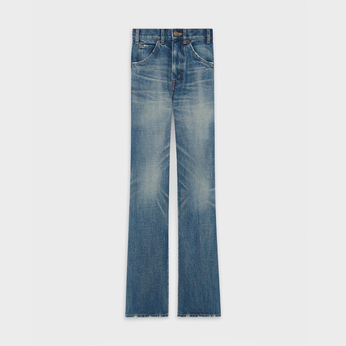 quan Celine Flared Jeans In Broken Twill - elle man