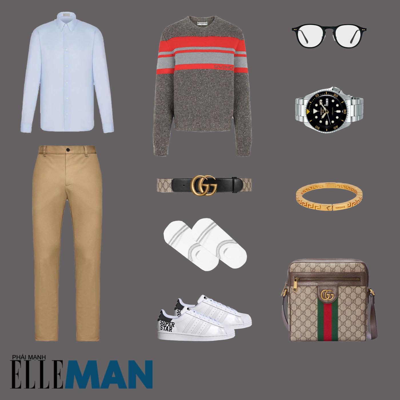 outfit 2 - phối đồ phong cách smart-casual