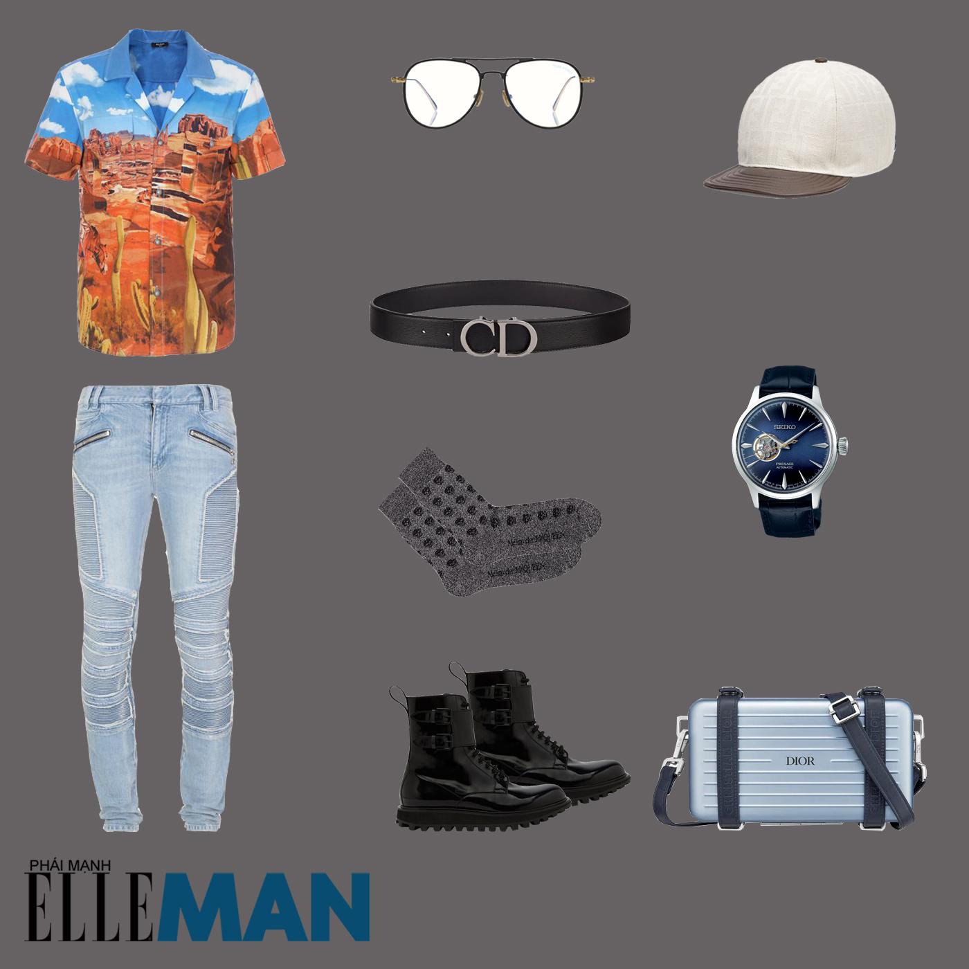 outfit 3 - phối đồ với áo sơ mi bowling