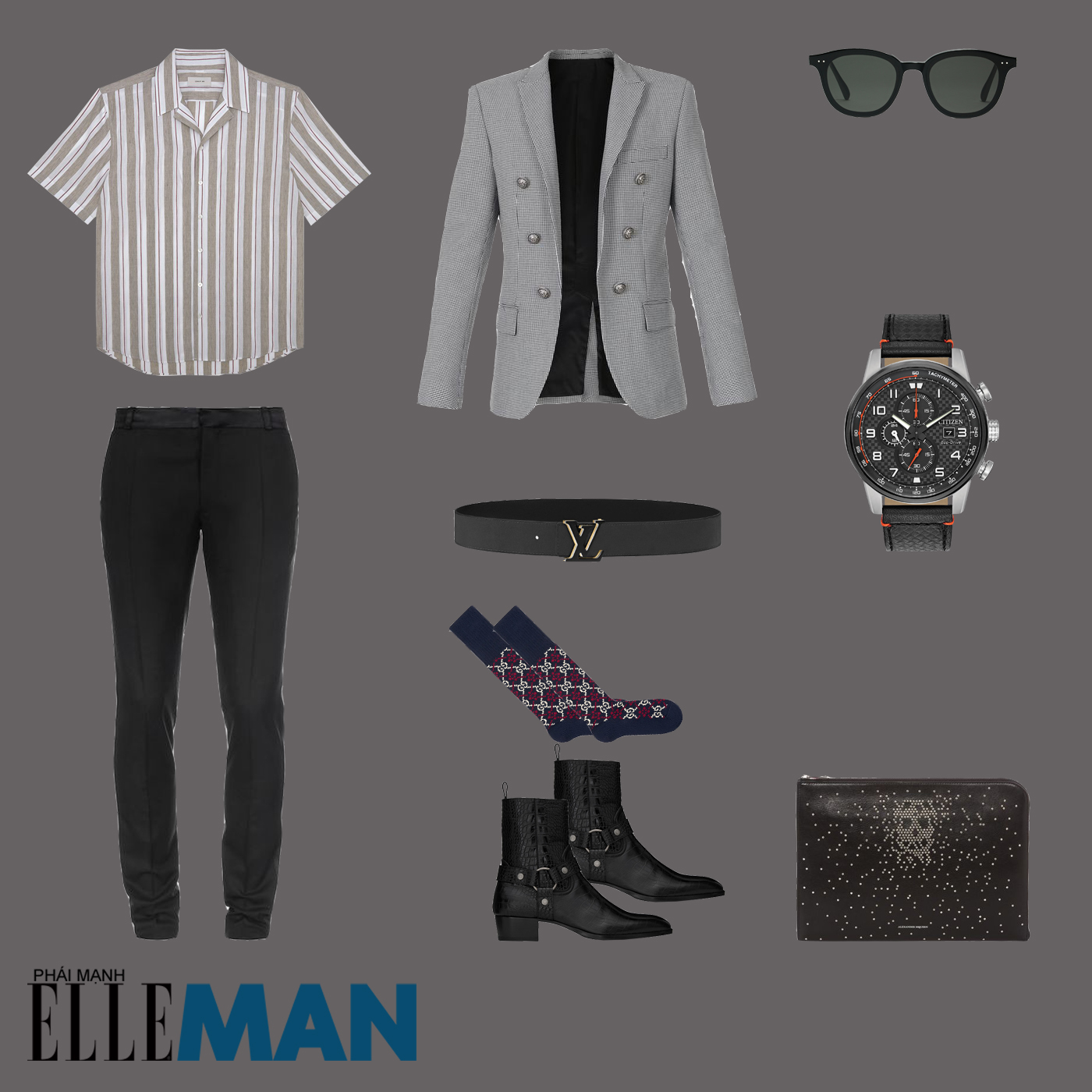 outfit 5 - phối đồ với áo sơ mi bowling