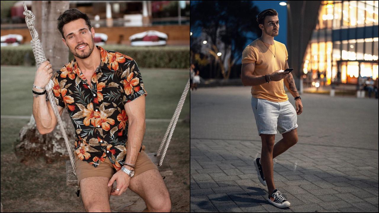 phối đồ với quần shorts nam - bradley và david