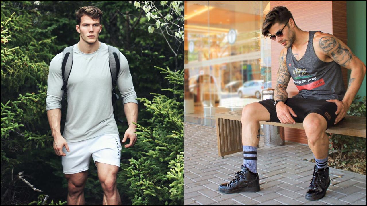 phối đồ với quần shorts nam - michael và renan
