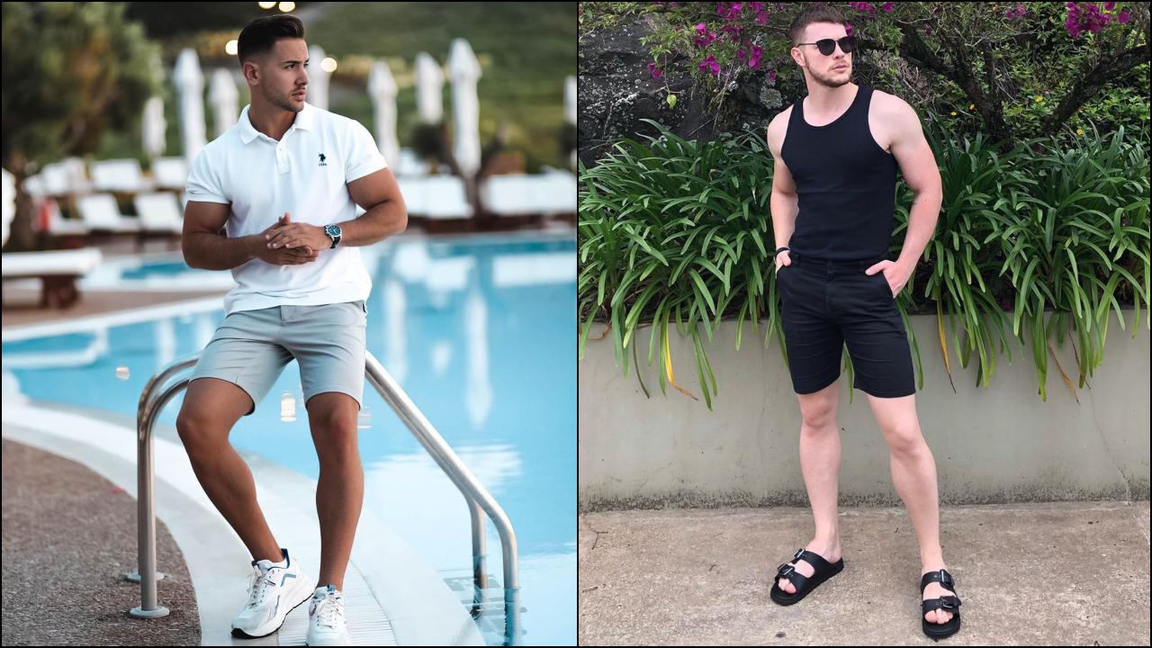phối đồ với quần shorts nam - nemanja và marcelo