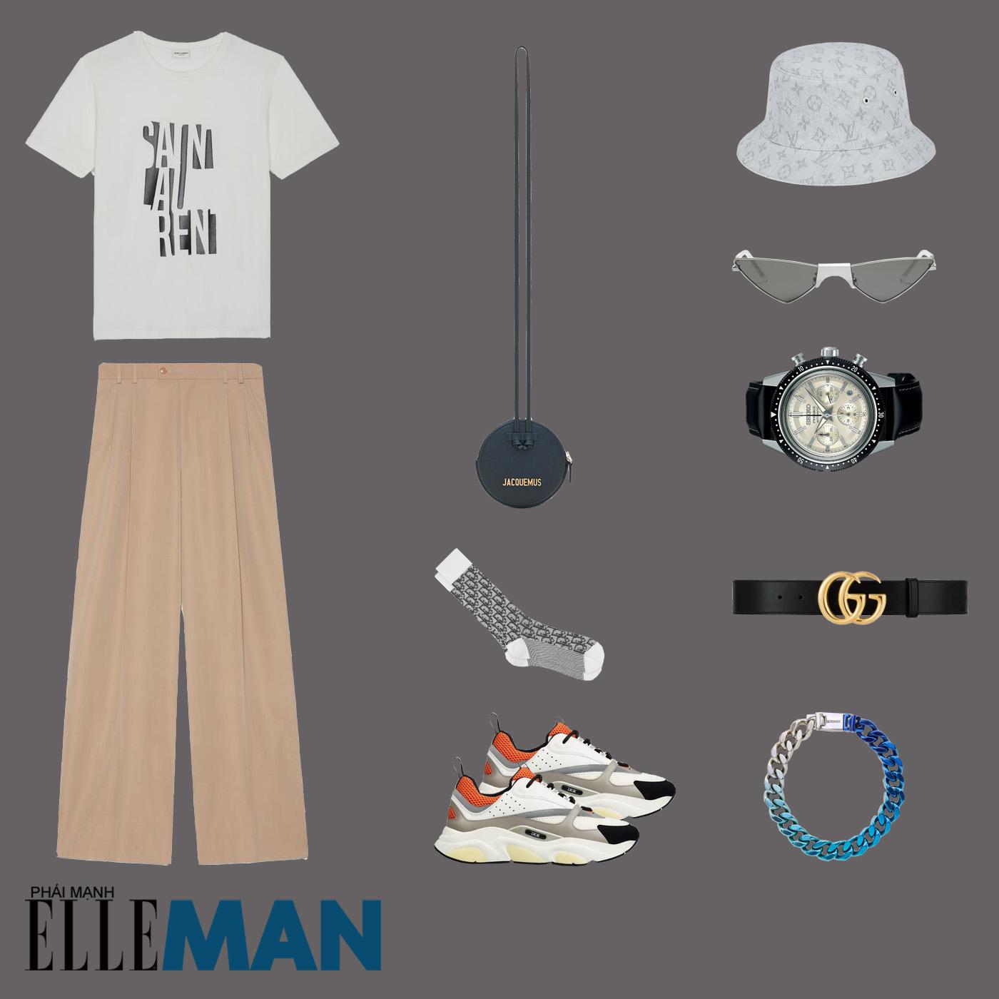outfit 1 - phối đồ tông màu đất