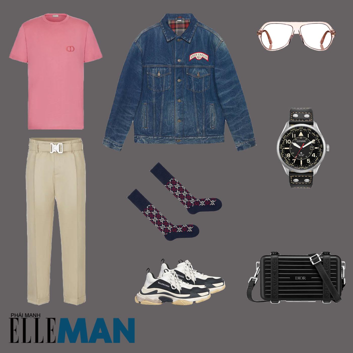 outfit 2 - phối đồ với áo thun basic
