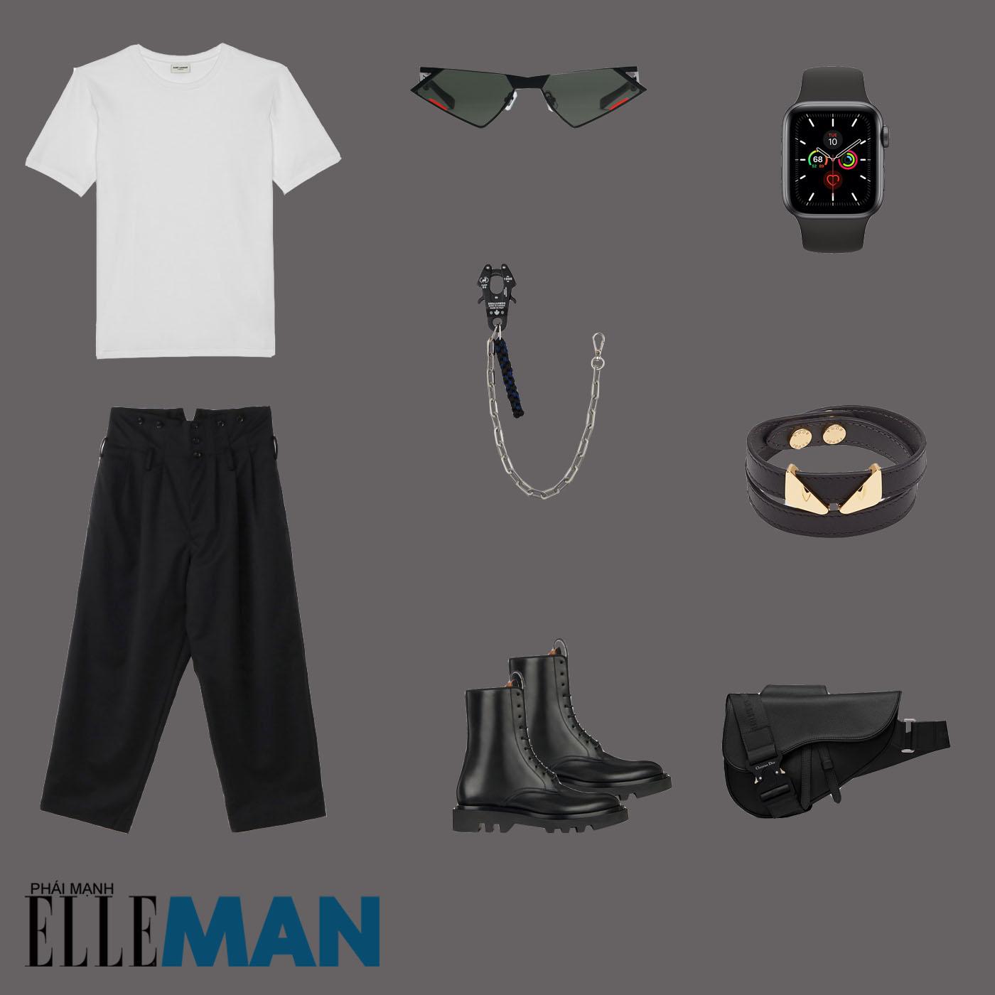 outfit 3 - phối đồ với áo thun basic