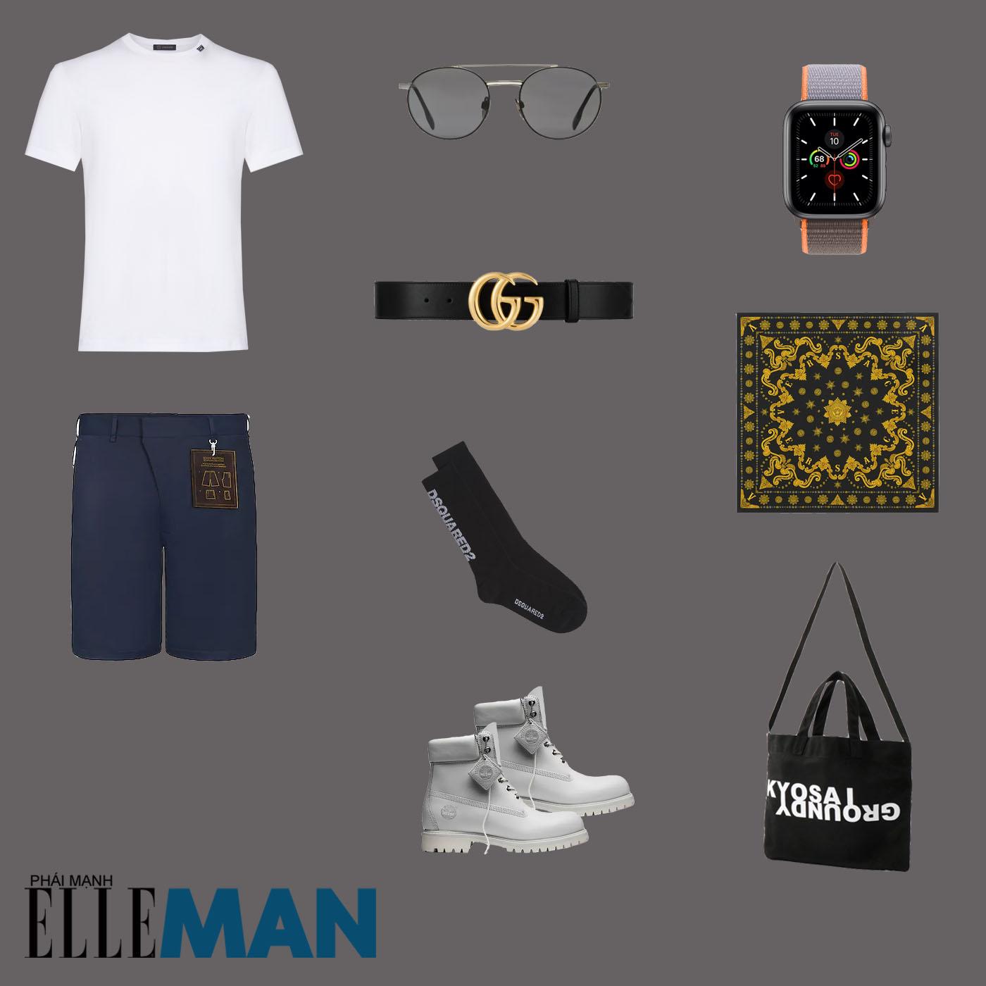 outfit 4 - phối đồ với áo thun basic