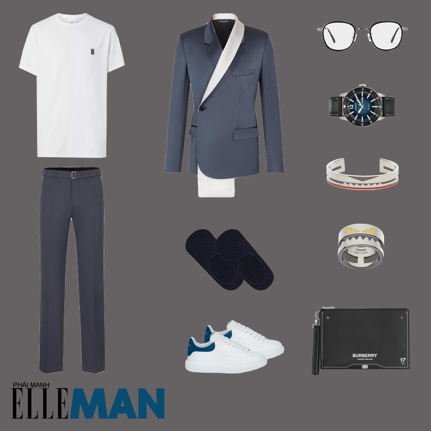 outfit 5 - phối đồ với áo thun basic
