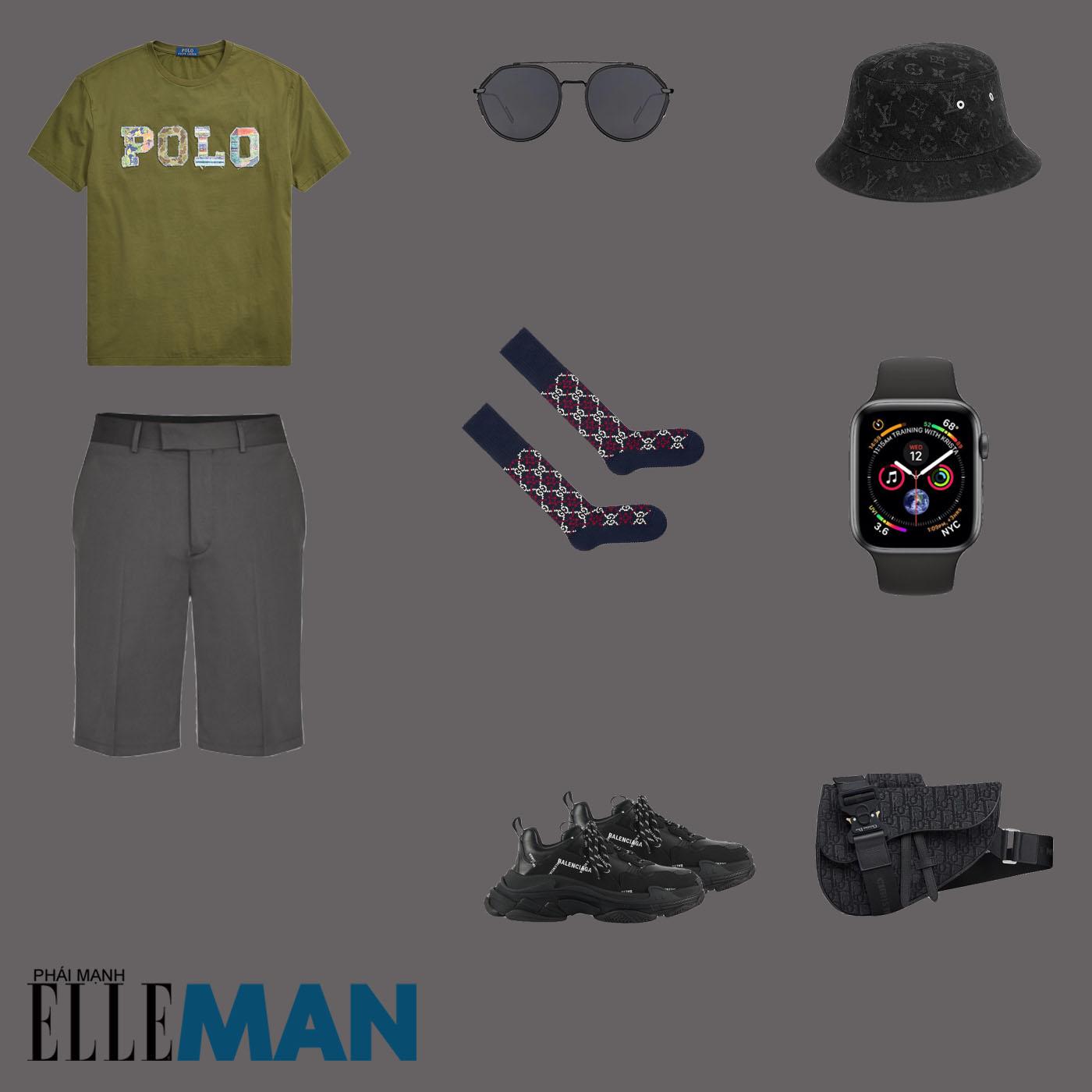 outfit 3 - phối đồ tông màu xanh lá