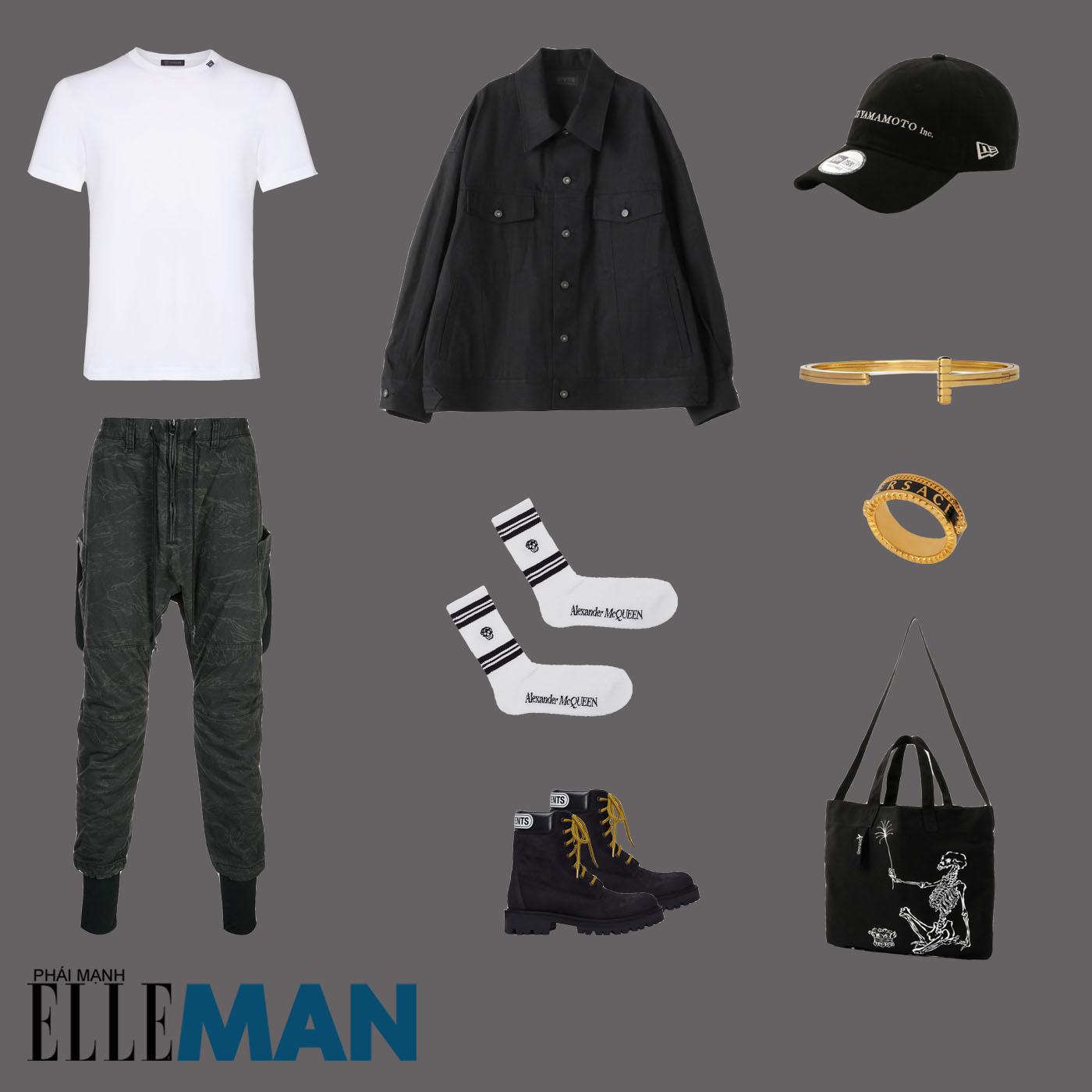 outfit 4 - phối đồ tông màu xanh lá