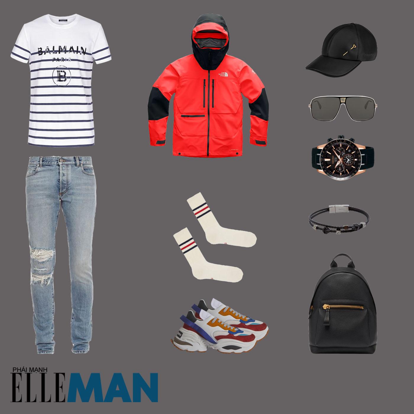 outfit 1 - phối đồ mùa mưa