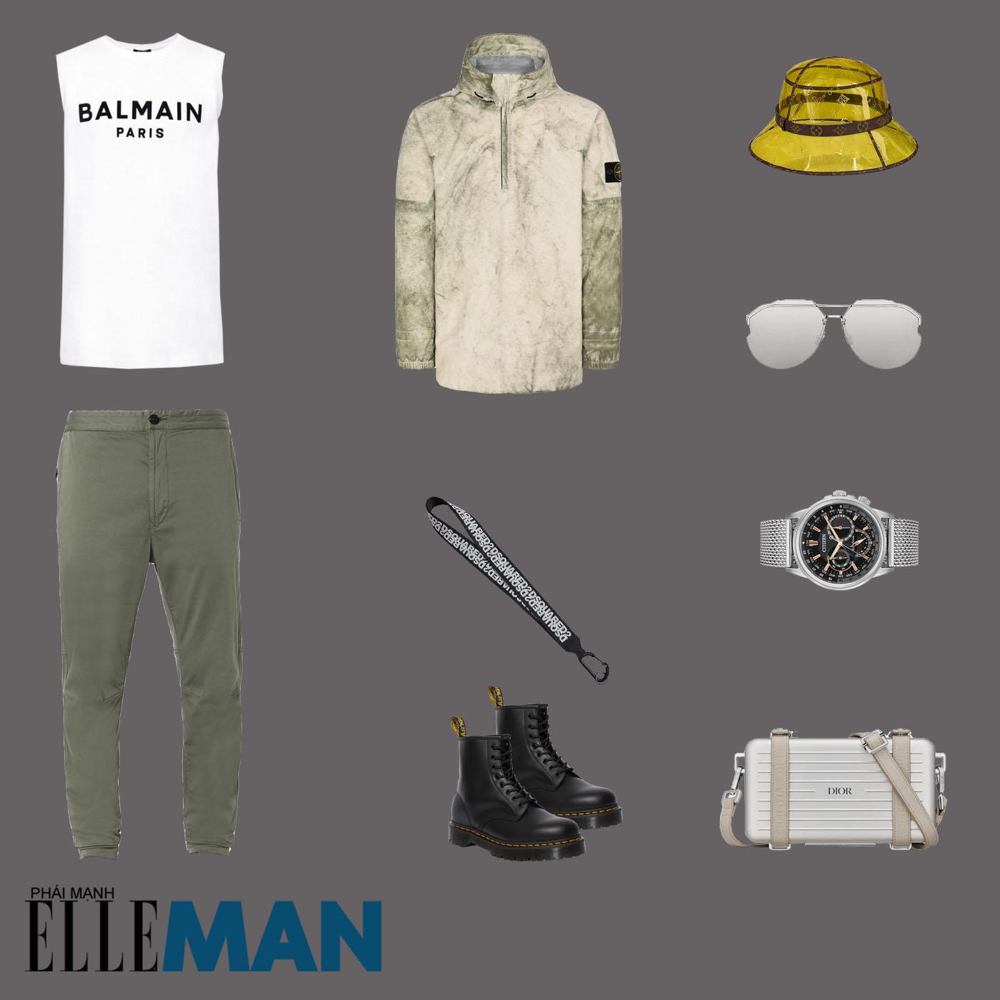 outfit 3 - phối đồ mùa mưa