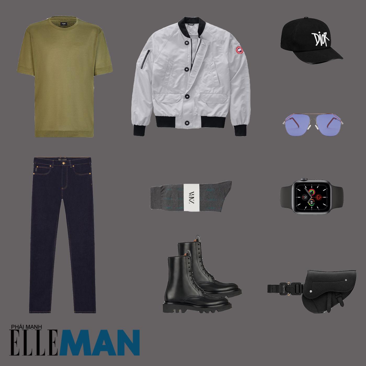 outfit 5 - phối đồ mùa mưa