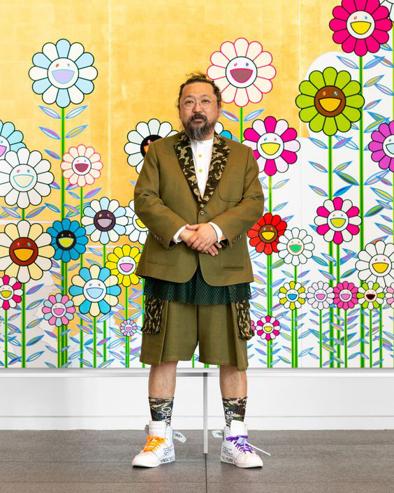 Takashi Murakami Trước Background Kakakiki