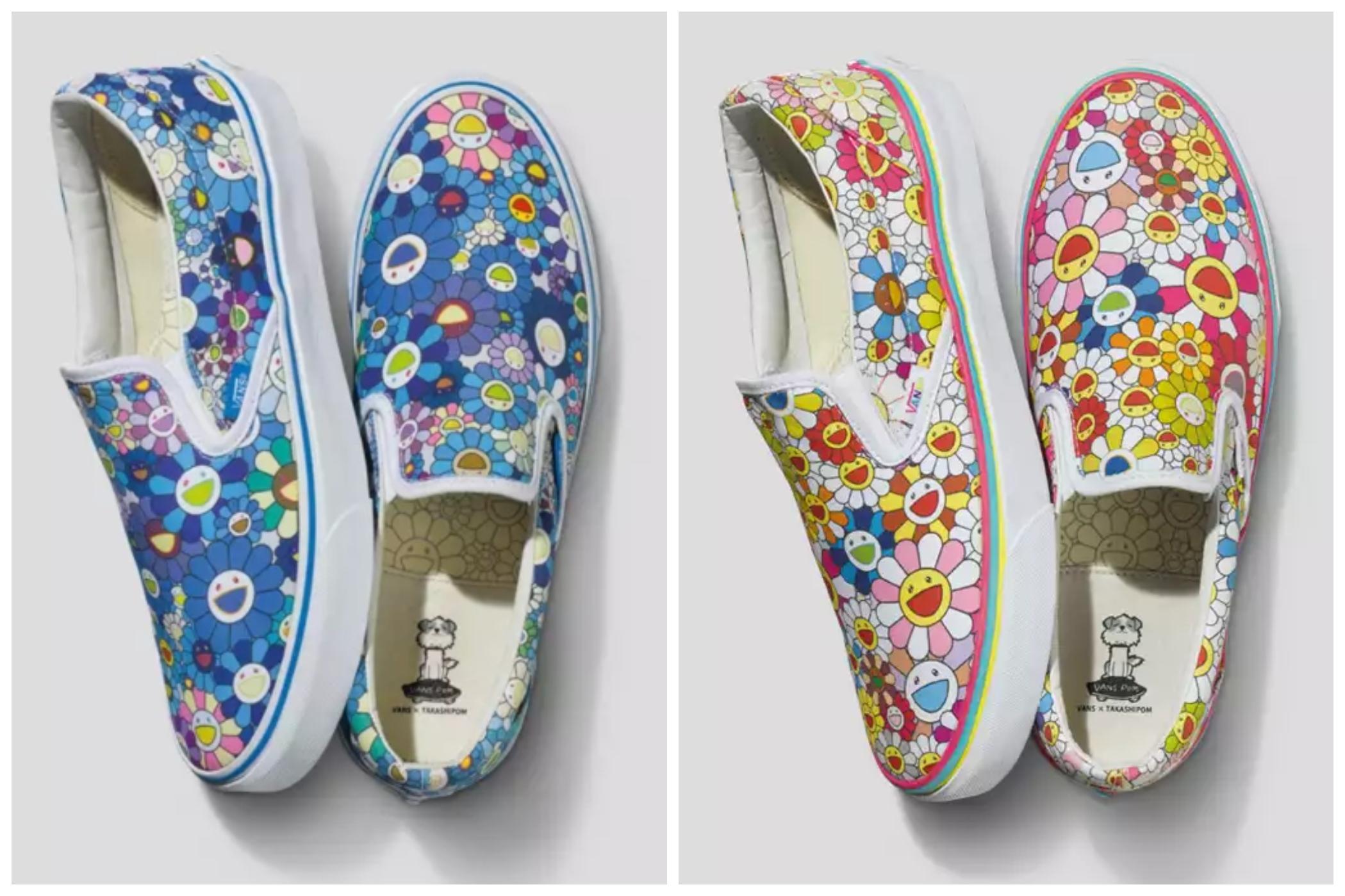 Mẫu giày kết hợp giữa Vans với Takashi Murakami