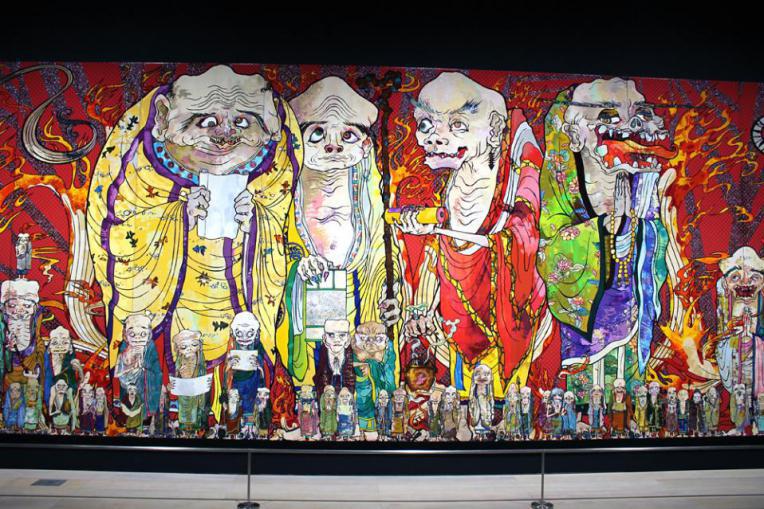 Tác phẩm tại buổi triển lãm The 500 Arhats Tượng