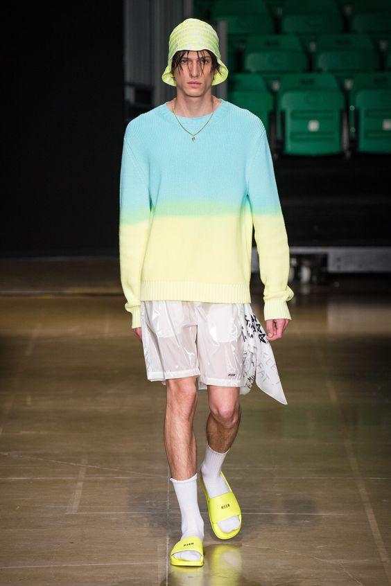 giày sandals màu neon