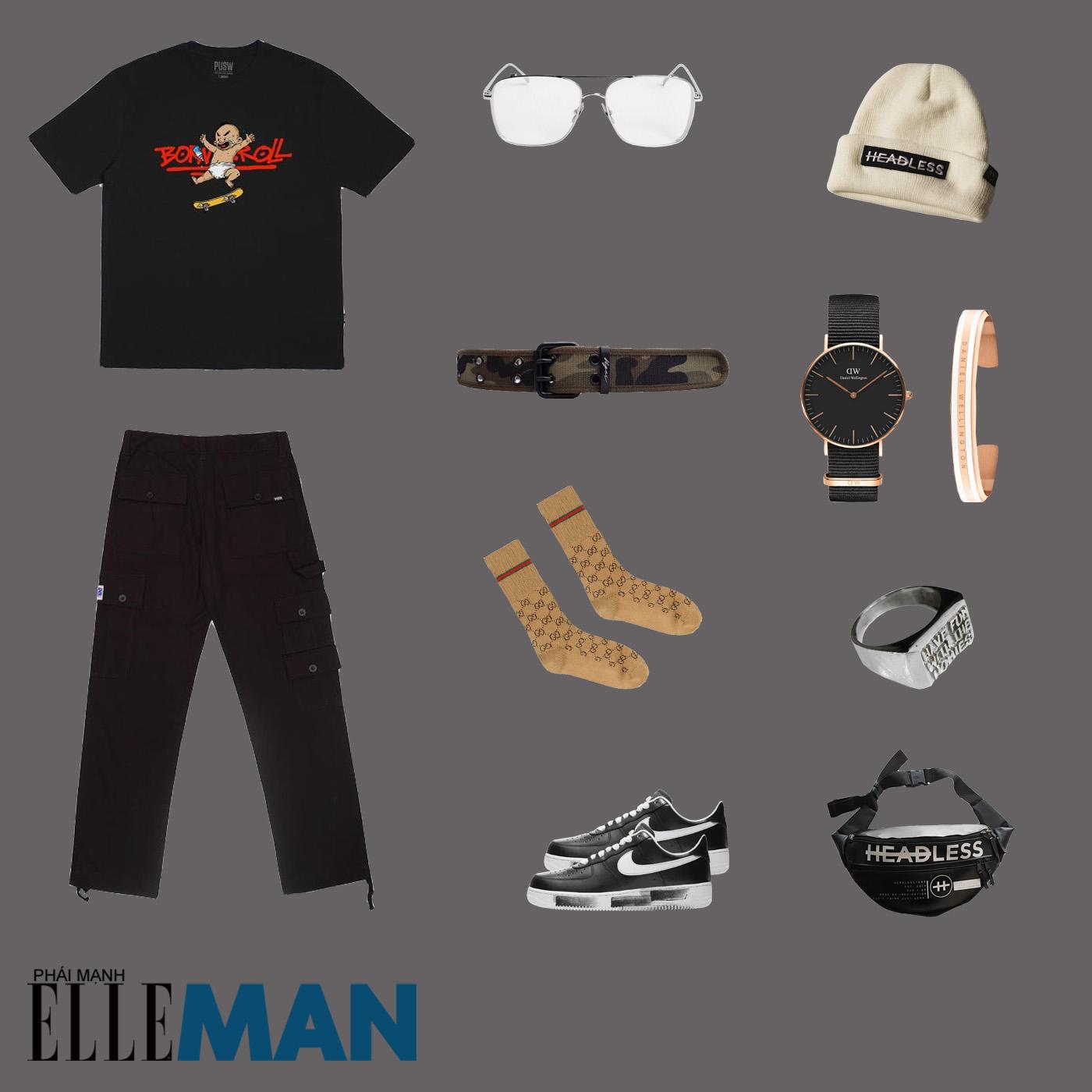 outfit 1 - phối đồ với áo thun local brand