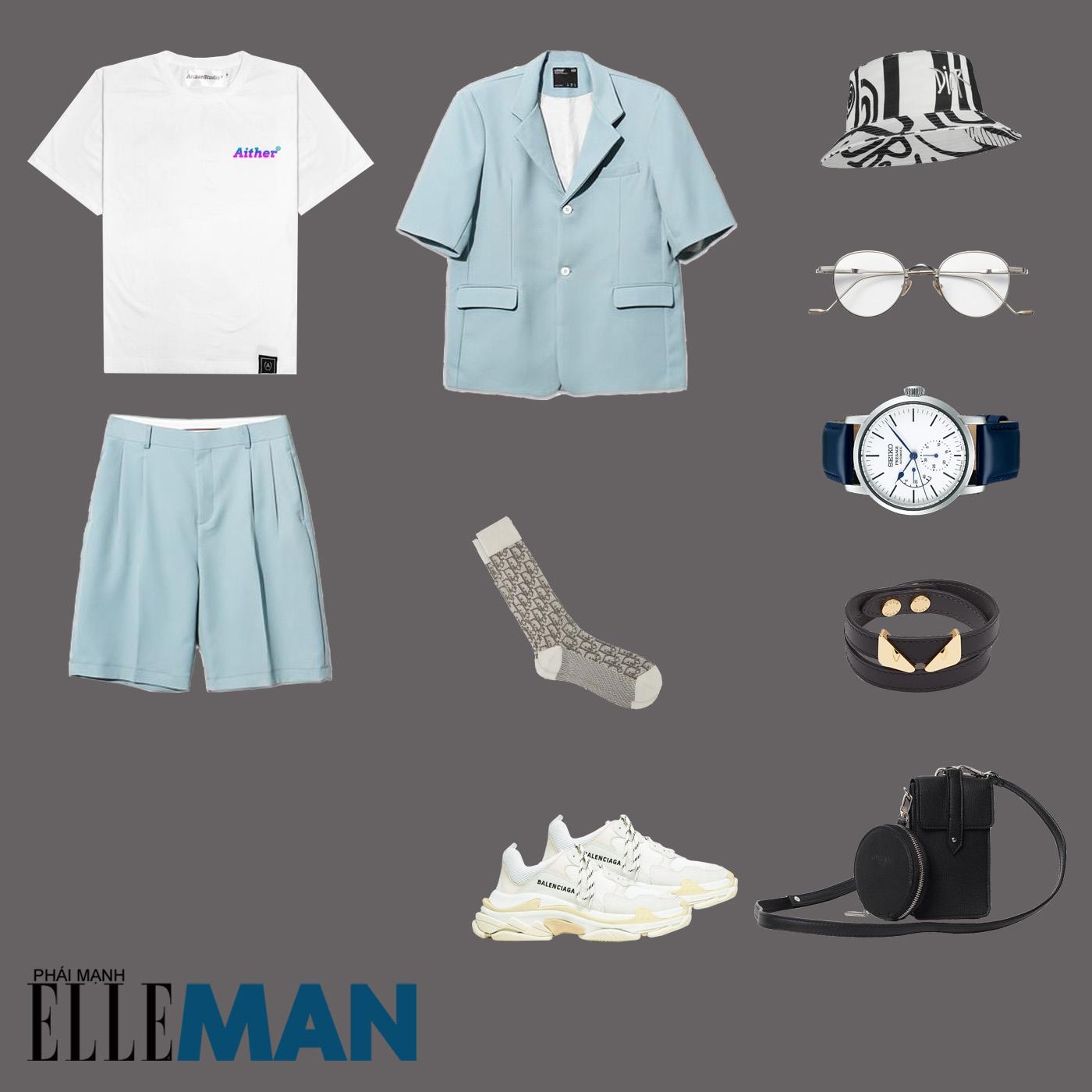 outfit 2 - phối đồ với áo thun local brand