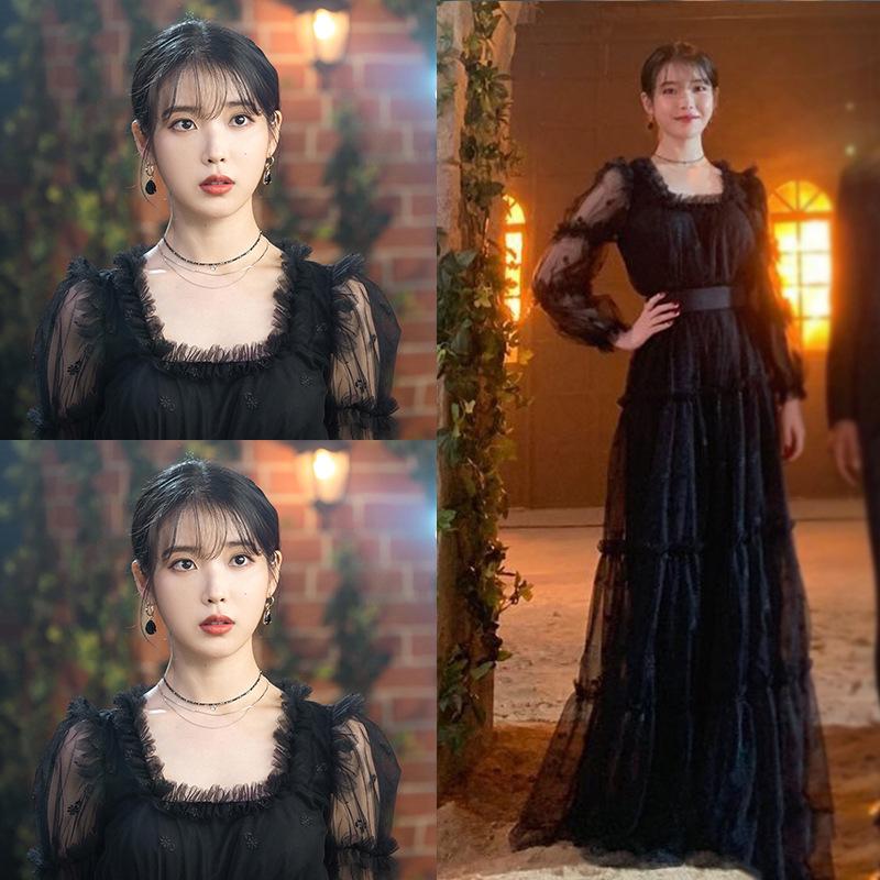 thời trang phim hotel de luna iu váy đen