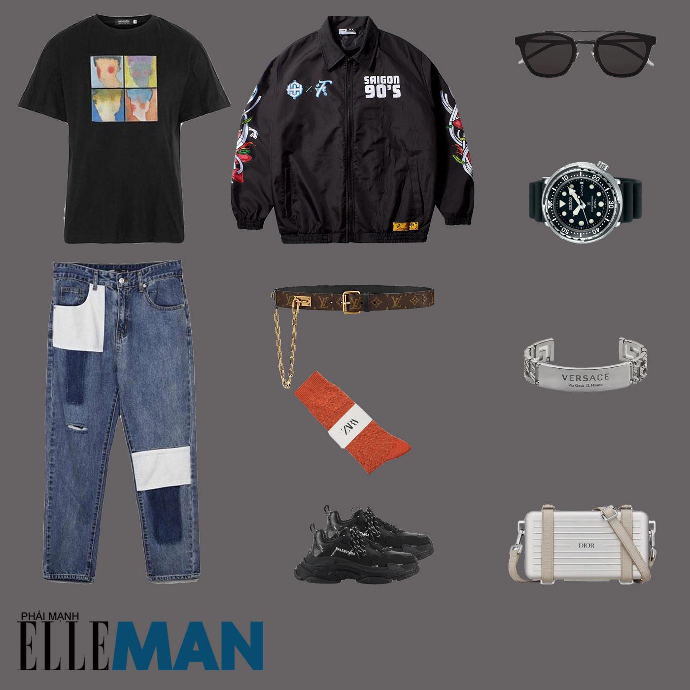 outfit 3 - phối đồ với quần dad jeans