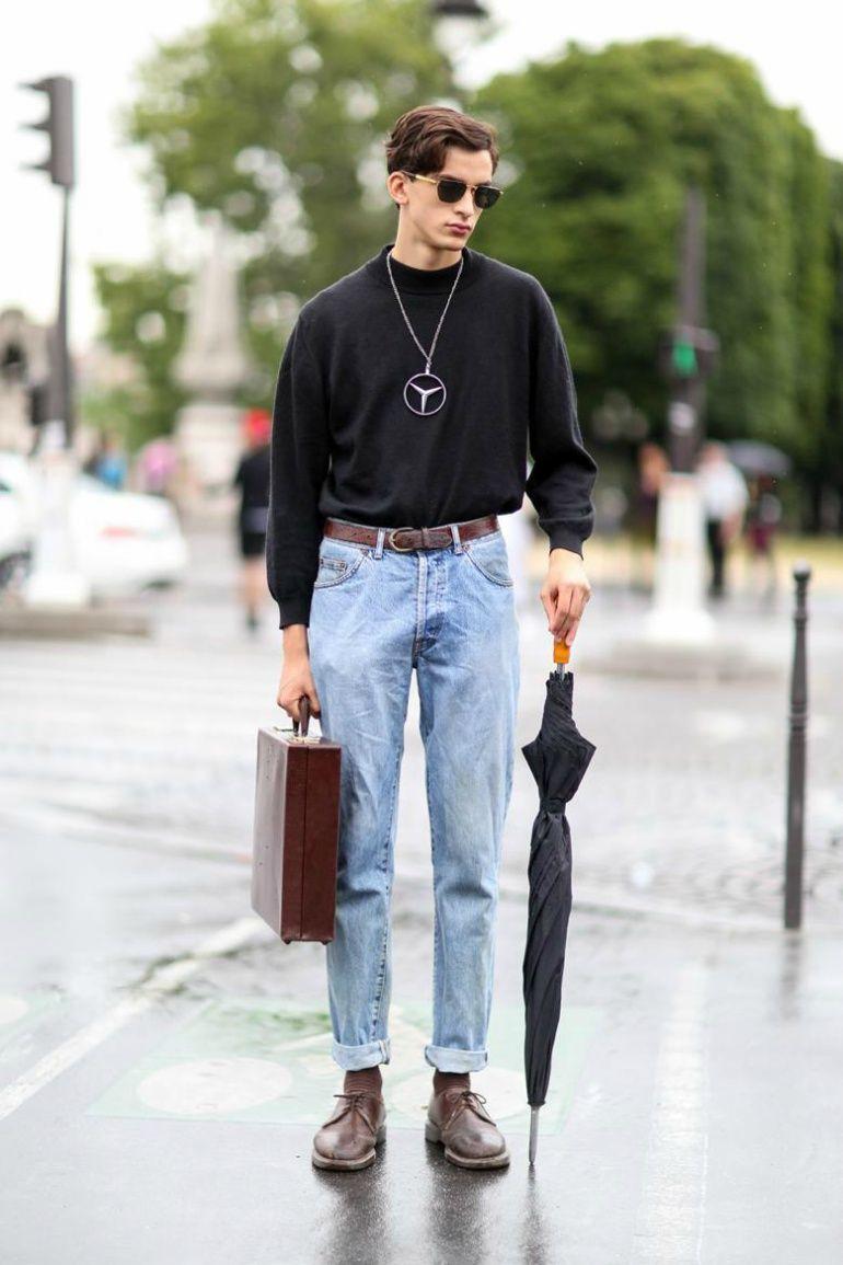 phối đồ với quần dad jeans