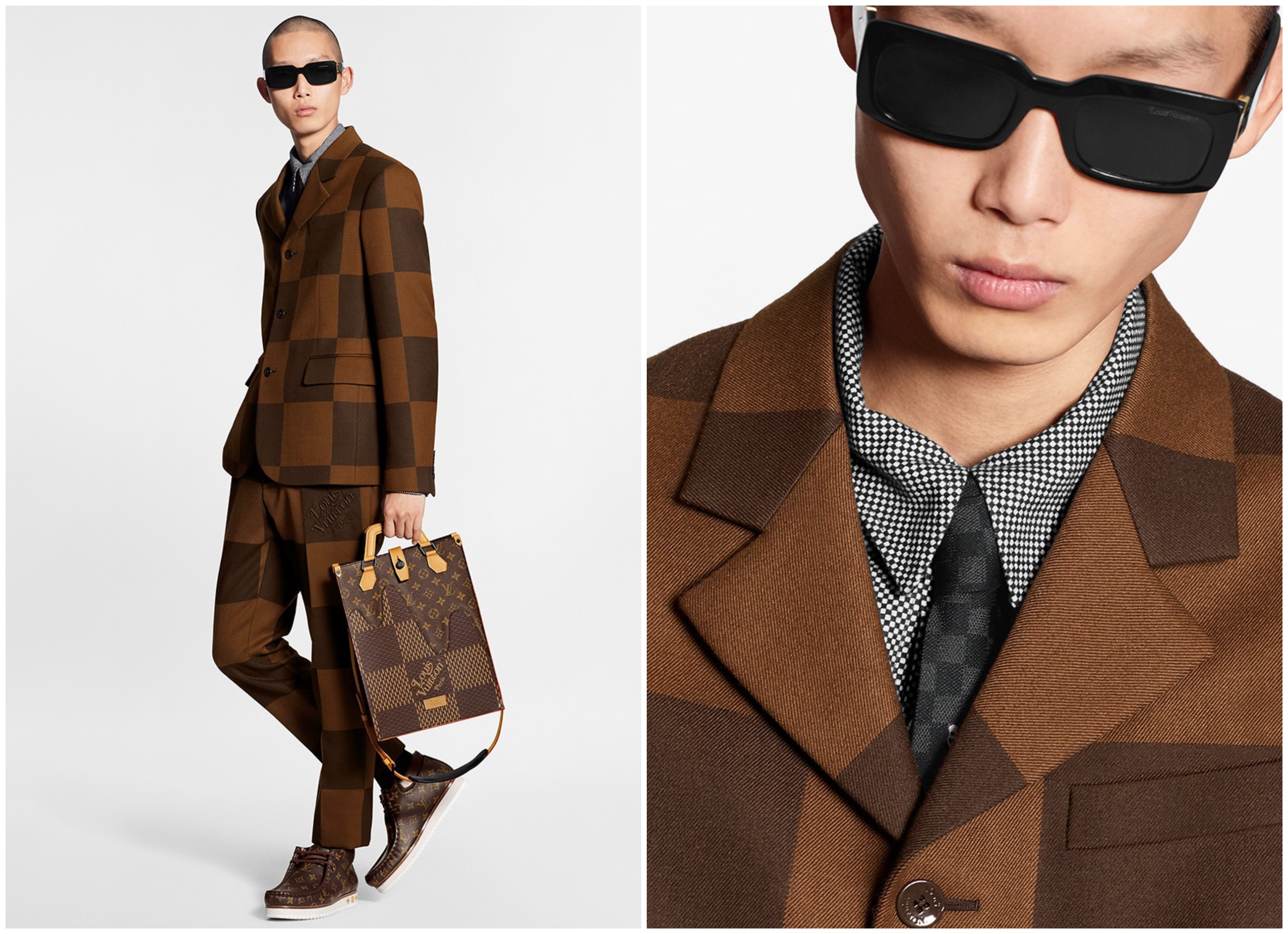 Louis Vuitton áo dệt kim hoạ tiết damier