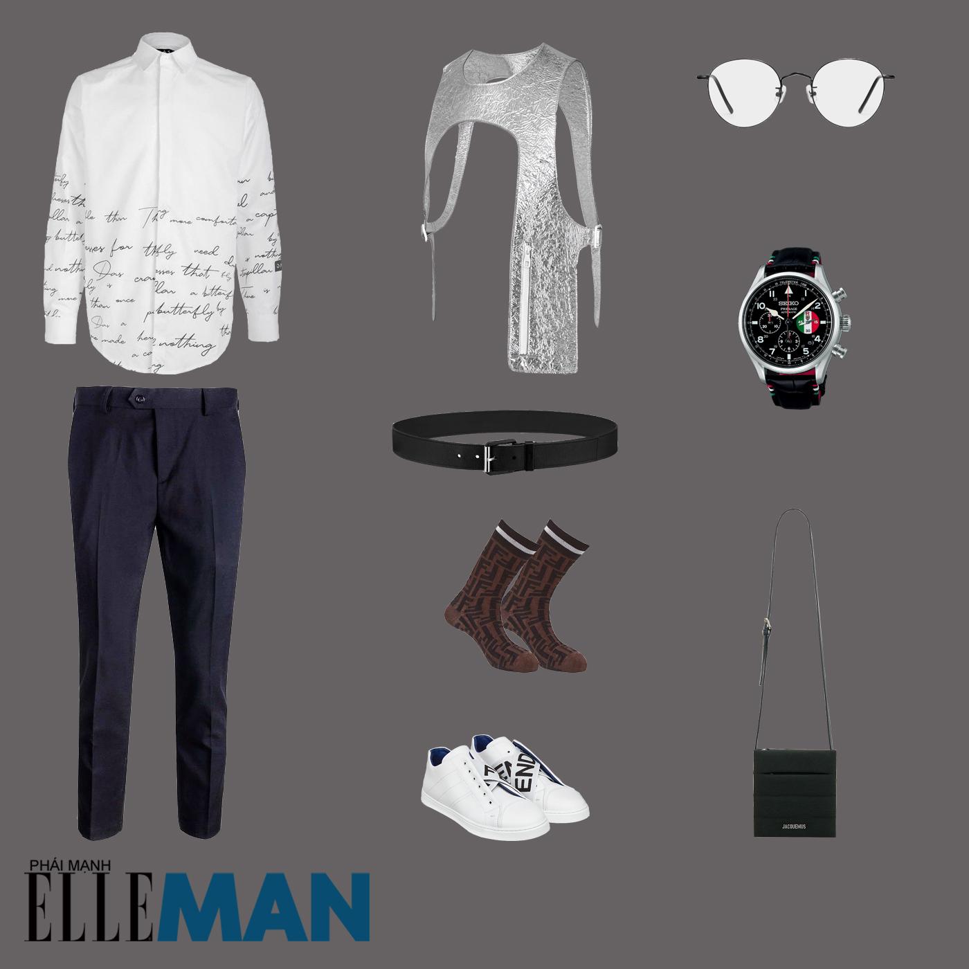 outfit 3 - phối đồ với giày sneakers trắng