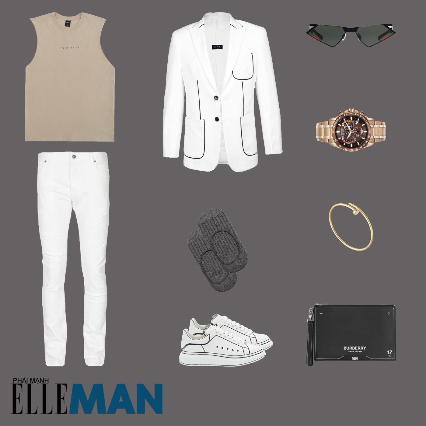 outfit 5 - phối đồ với giày sneakers trắng