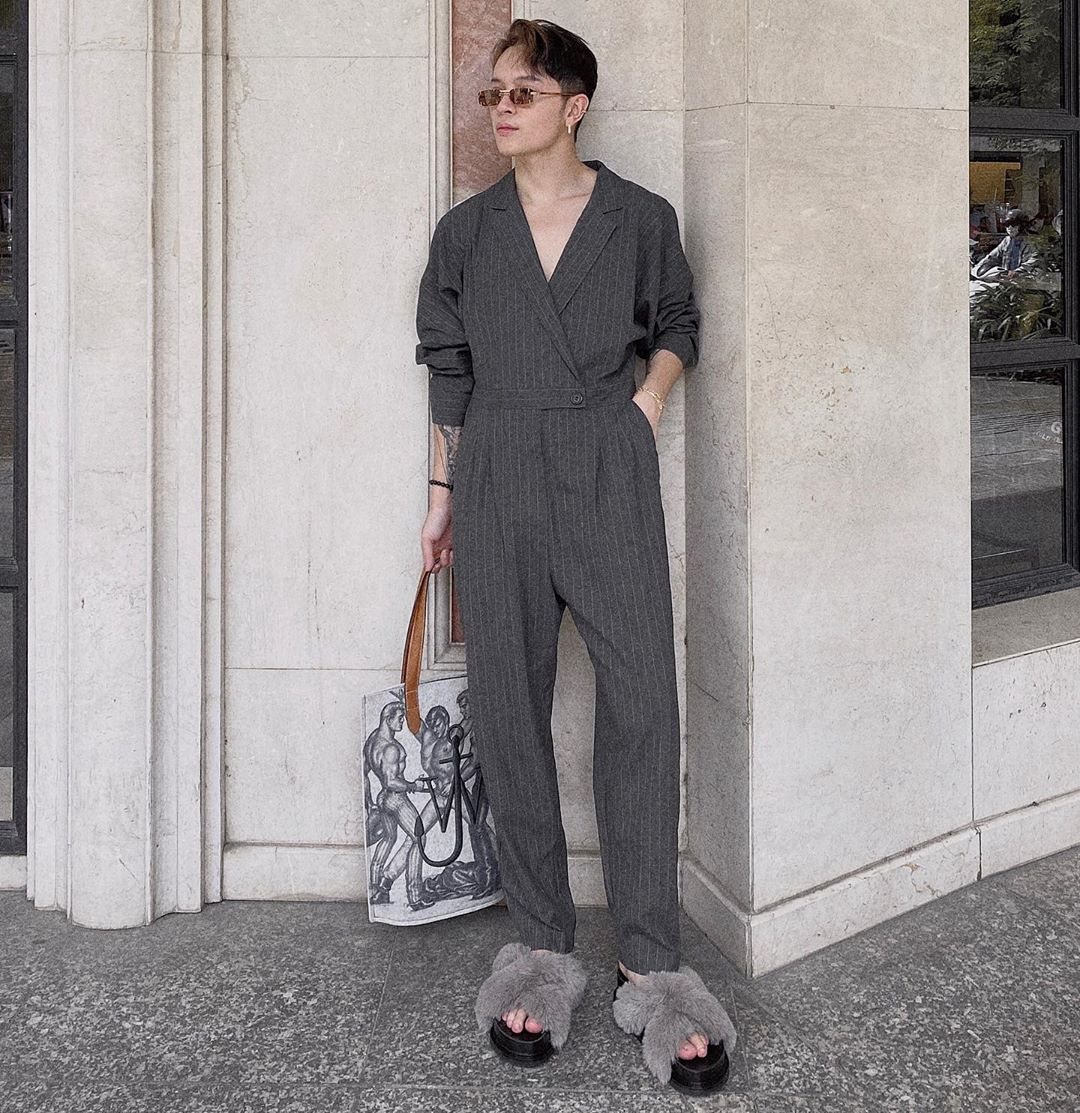 outfit của kelbin lei